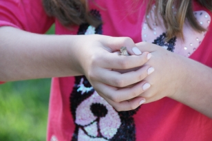 my niece with an anole!